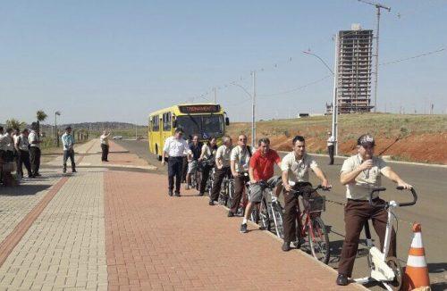 Pérola treina motoristas para atitudes de respeito com os ciclistas